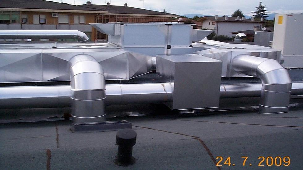 impianto ricambio aria climatizzazione